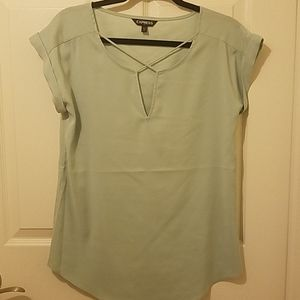 Express minty green top